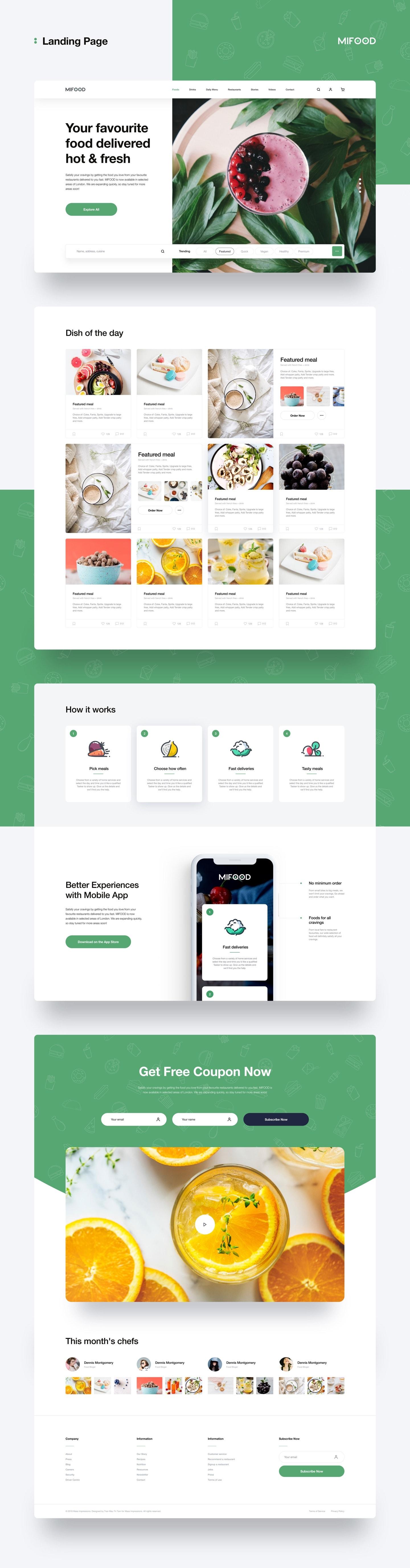 mifoods_freeui.design_02 - landing page